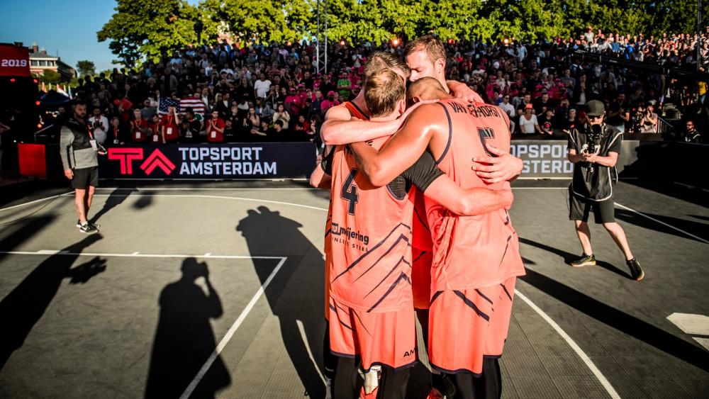 3x3 Basketbal mannen Foto: Topsport Amsterdam